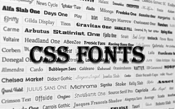خصوصیات font در css