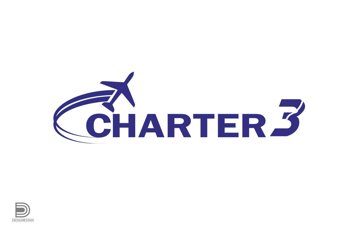 طراحی لوگو آژانس هواپیمایی charter