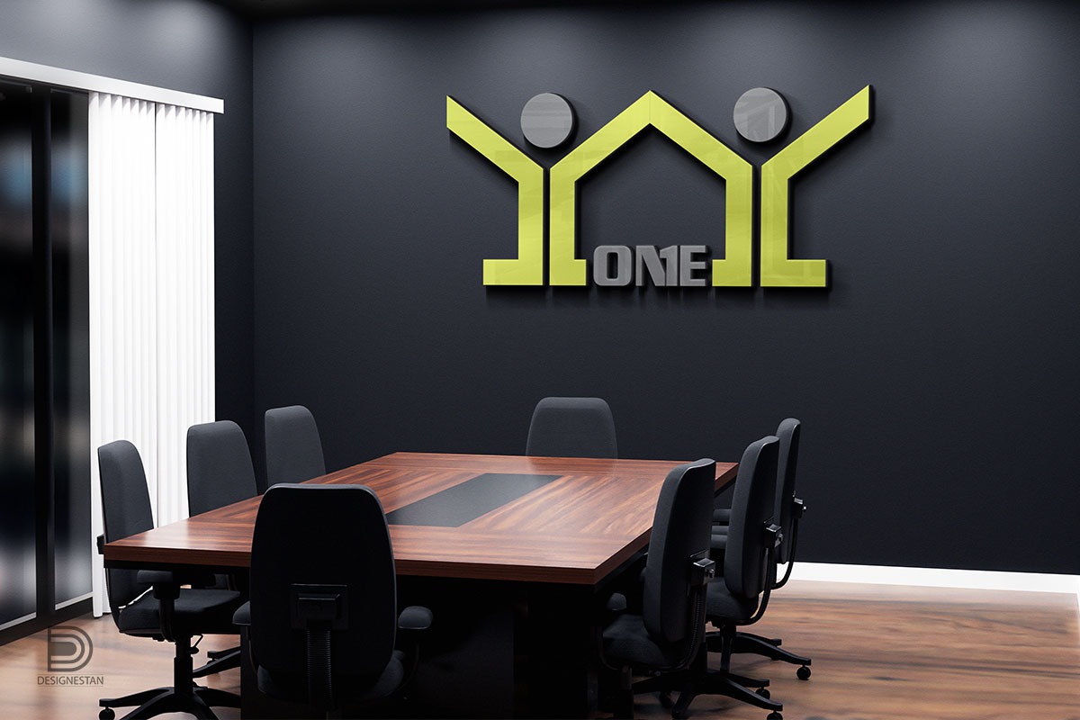 طراحی لوگو املاک one